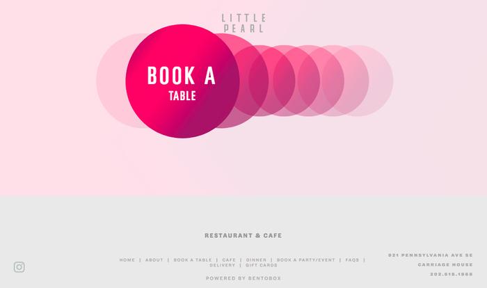 Little Pearl Restaurant website 1