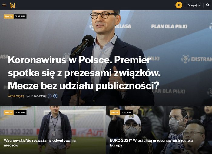 Weszło sports news website 1