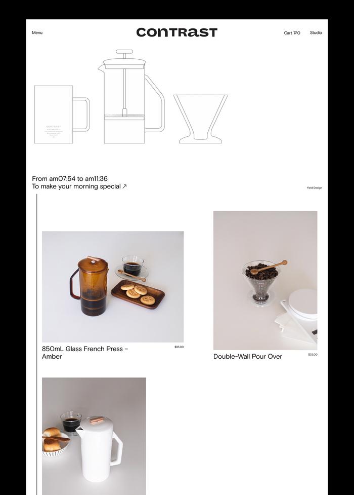 Contrast lifestyle boutique website 2