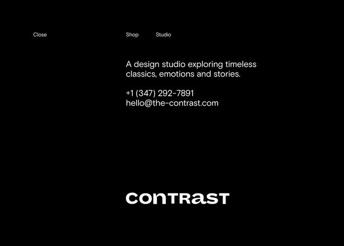 Contrast lifestyle boutique website 3