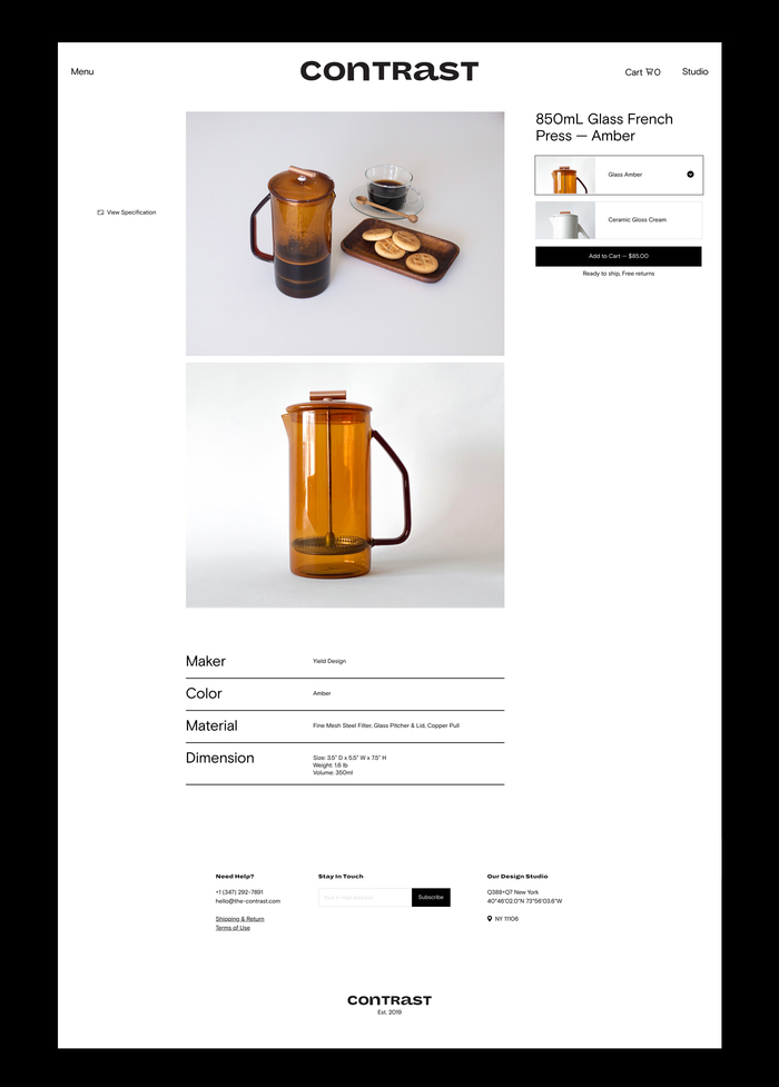 Contrast lifestyle boutique website 4
