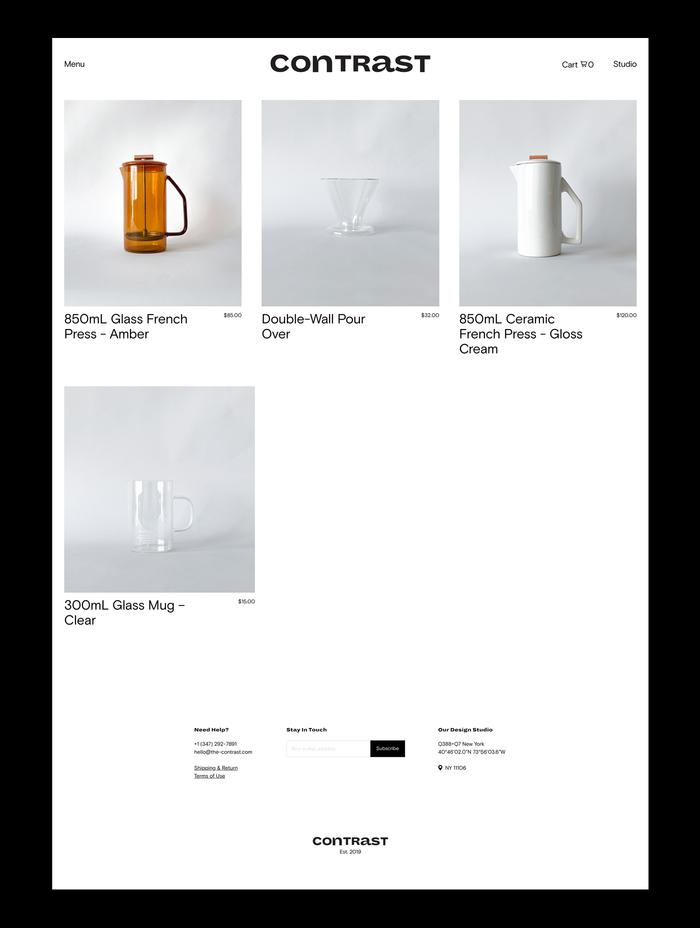Contrast lifestyle boutique website 5