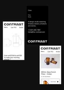 Contrast lifestyle boutique website