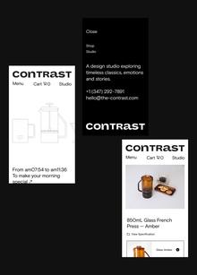 Contrast lifestyle boutique website