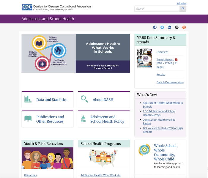 CDC – Centers for Disease Control and Prevention website 3