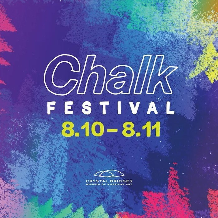 Hand-rendered Halyard Display for the Chalk Festival at Crystal Bridges.