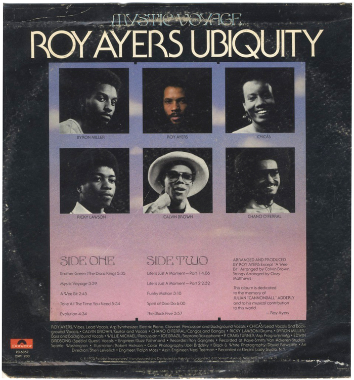 Roy Ayers Ubiquity – Mystic Voyage album art 2