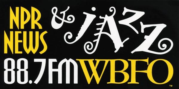 88.7 WBFO bumper sticker