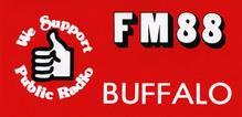 """WBFO """"FM 88"""" bumper sticker"""