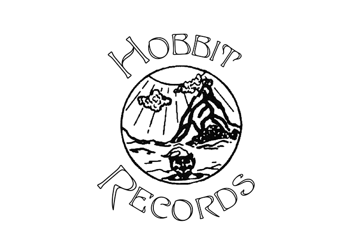 Recreation of the Hobbit Records logo using an image found on another record and a digital version of Edda. Note that this version doesn't match the original in all details.