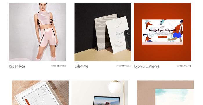 Studio Jigé portfolio website 3