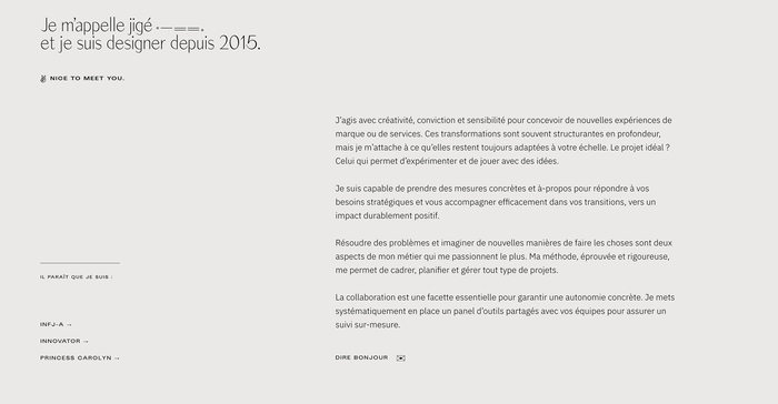 Studio Jigé portfolio website 4