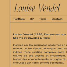 Louise Vendel portfolio website