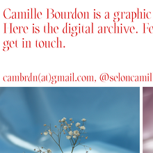 Camille Bourdon portfolio website