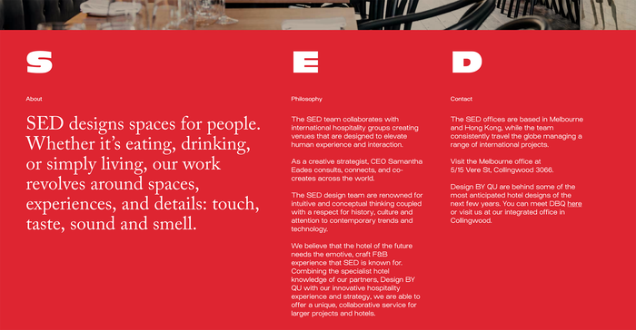 Samantha Eades Design portfolio website 4
