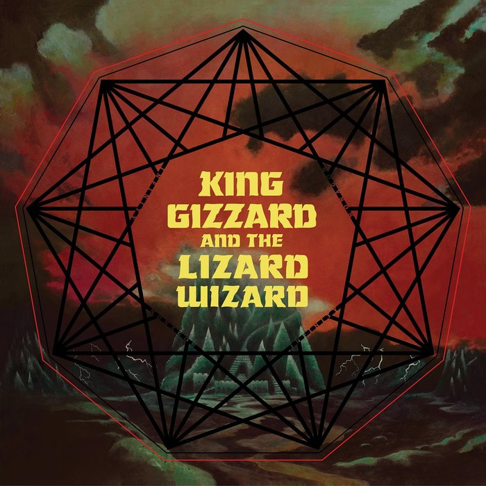 Nonagon Infinity (2016) album artwork. Lettering based on .