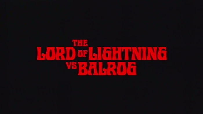 """The Lord of Lightning vs. Balrog"" music video, from Murder of the Universe (2017). Typeset in Roberta."