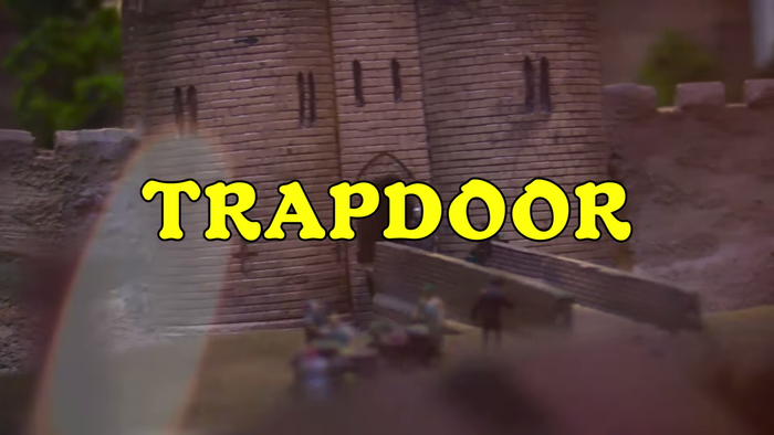 """Trapdoor"" music video, from Paper Mâché Dream Balloon (2015). Typeset in Robur."