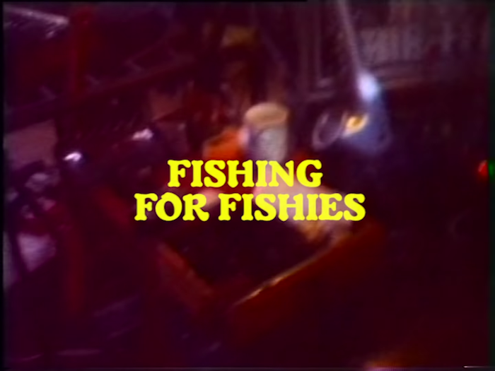 """How to Gut a Fishie"" promotional video for Fishing for Fishies (2019). Typeset in Robur."