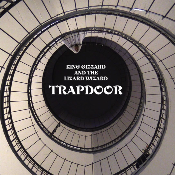"""Trapdoor"" single artwork, from Paper Mâché Dream Balloon (2015). Typeset in ."