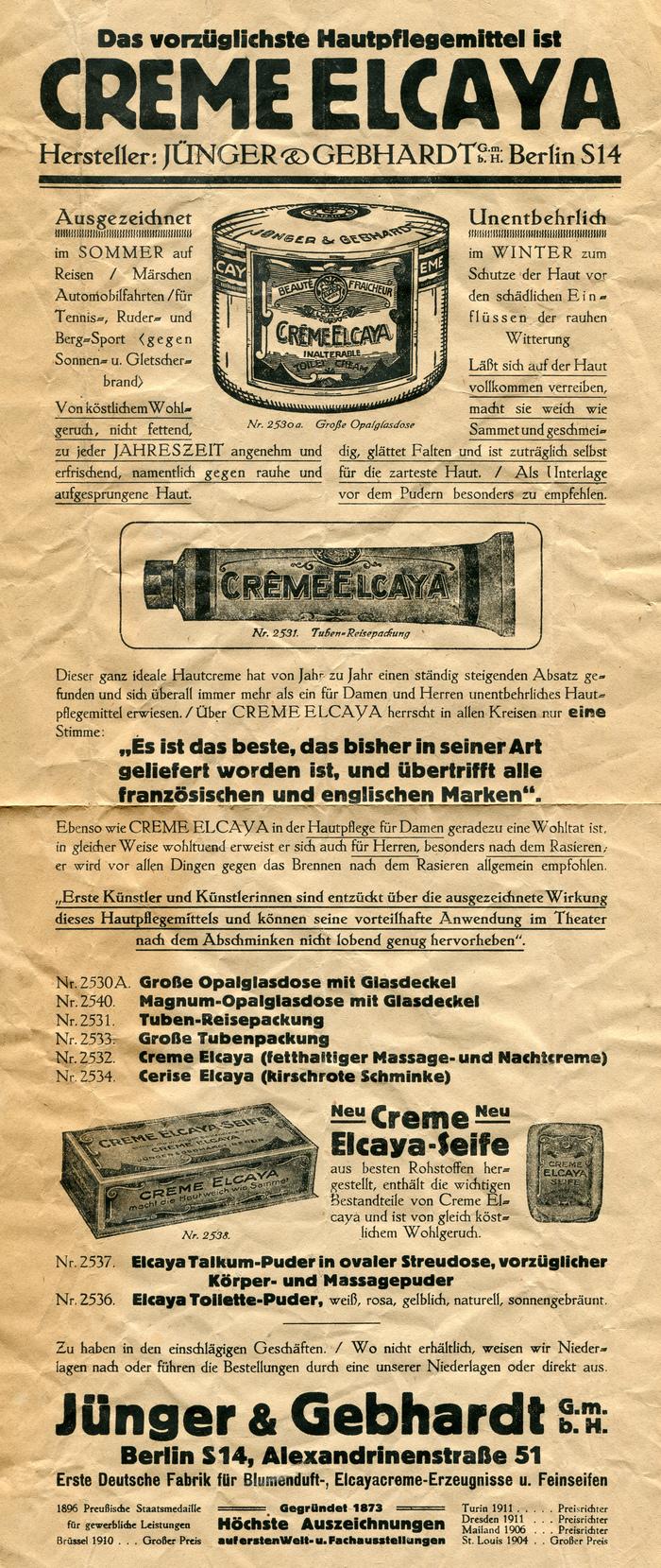 Creme Elcaya ad by Jünger & Gebhardt