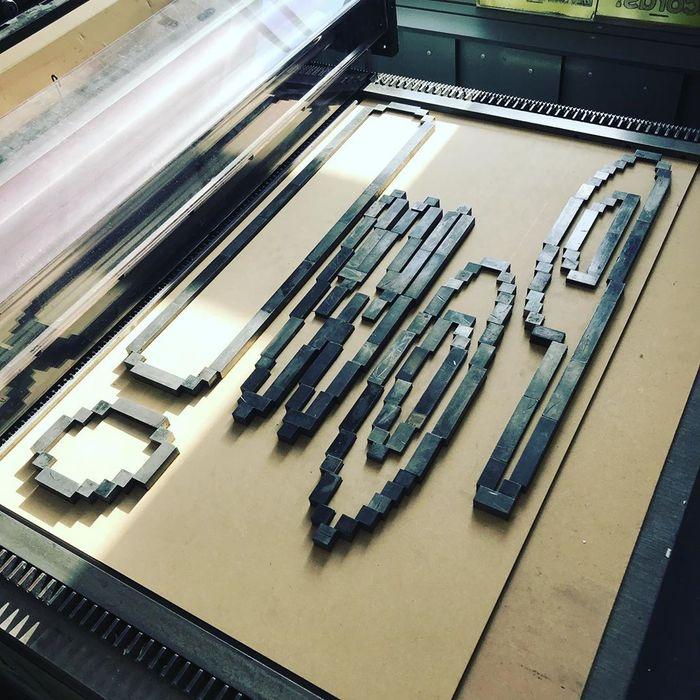 Lasercut lockup of furniture.