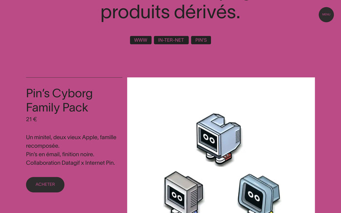 Datagif portfolio website 4