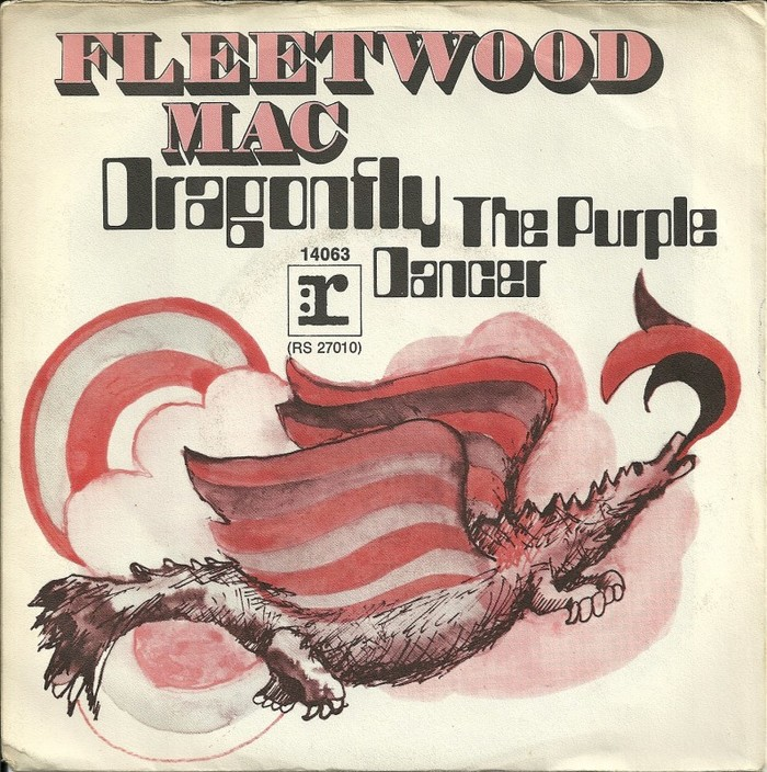 "Fleetwood Mac – ""Dragonfly"" / ""The Purple Dancer"" German and Dutch single covers 1"