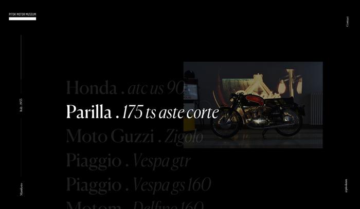 Pitok Motor Museum website and logo 4
