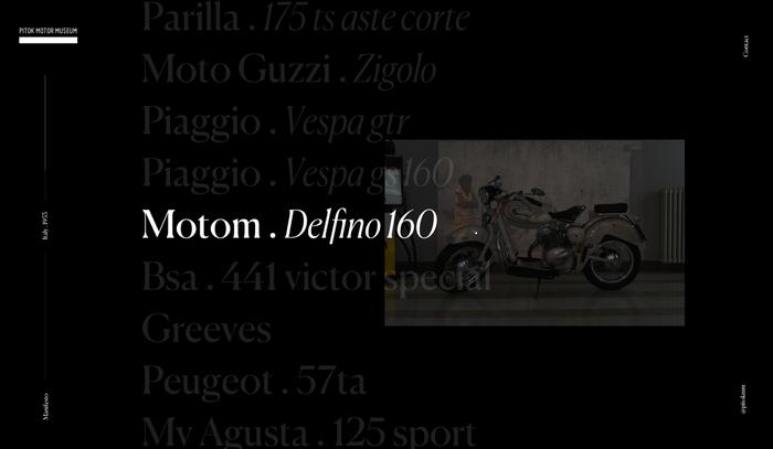 Pitok Motor Museum website and logo 3