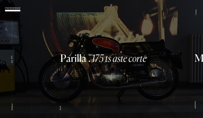 Pitok Motor Museum website and logo 5