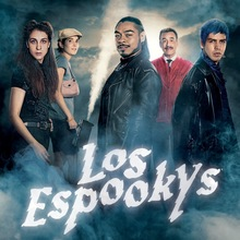 <cite>Los Espookys</cite> TV show logo and poster