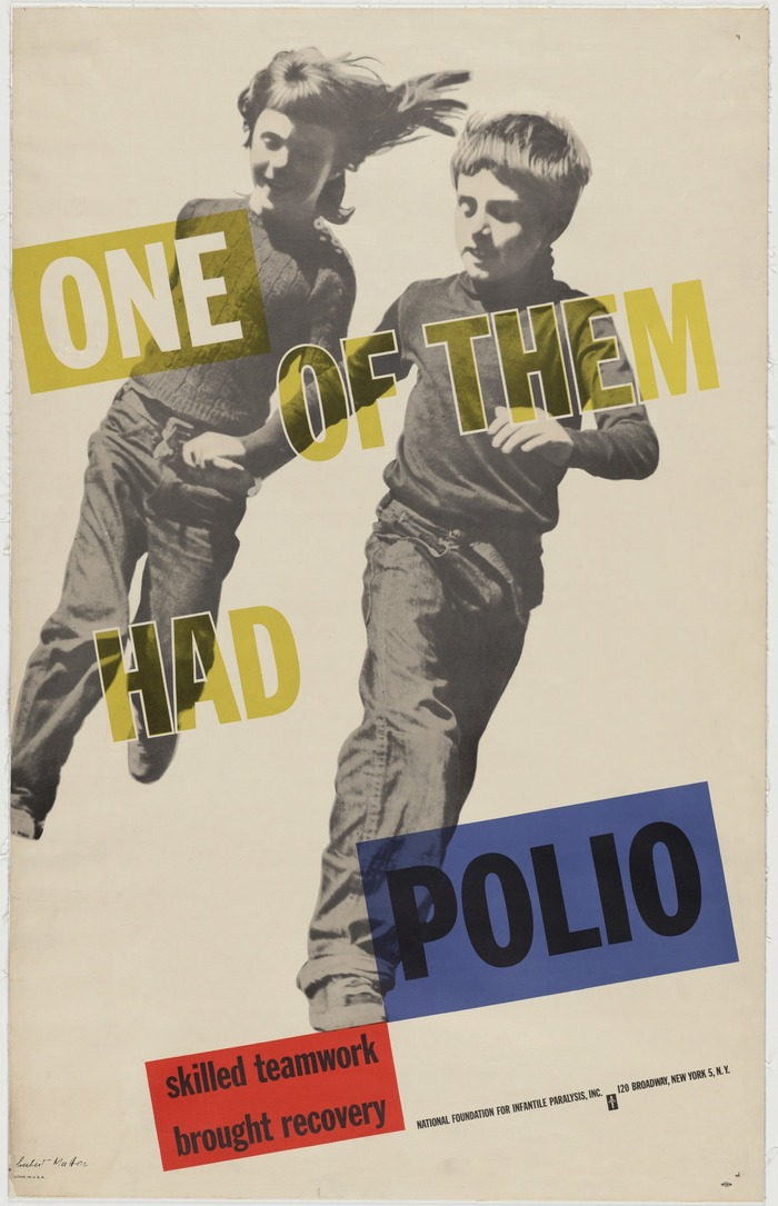 """One of Them Had Polio"" poster"
