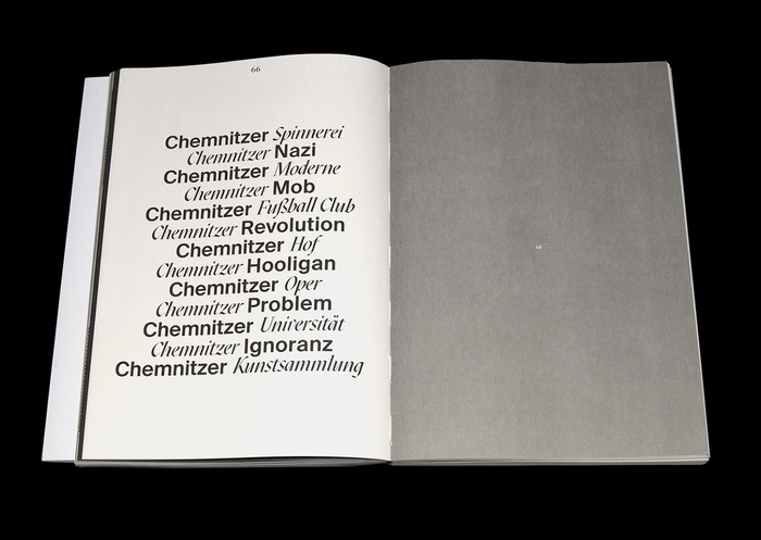 This list of Chemnitz-related terms pairs  Extra Italic and .