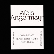 Alois Angermayr business cards