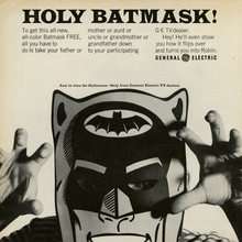 """Holy Batmask!"" ad by General Electric"
