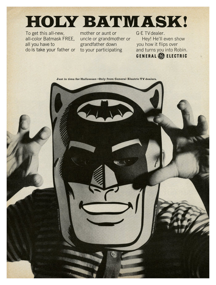 """Holy Batmask!"" ad by General Electric 2"