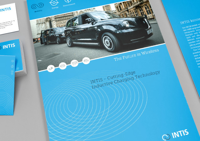 Image brochure about the cutting-edge inductive charging technology by INTIS.