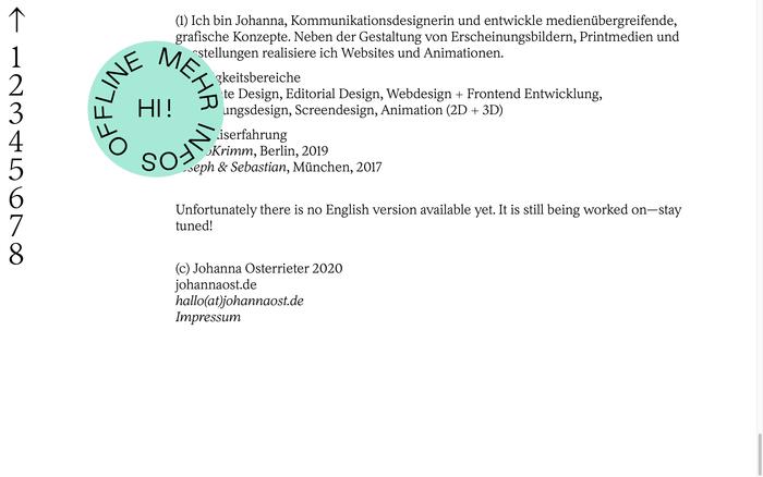 Johanna Osterrieter website 2