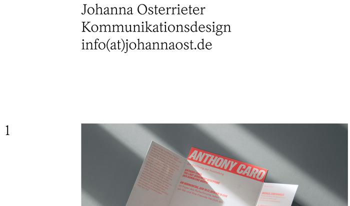 Johanna Osterrieter website 1