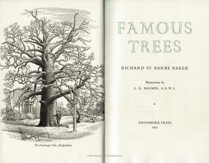 Famous Trees title page, Dropmore Press