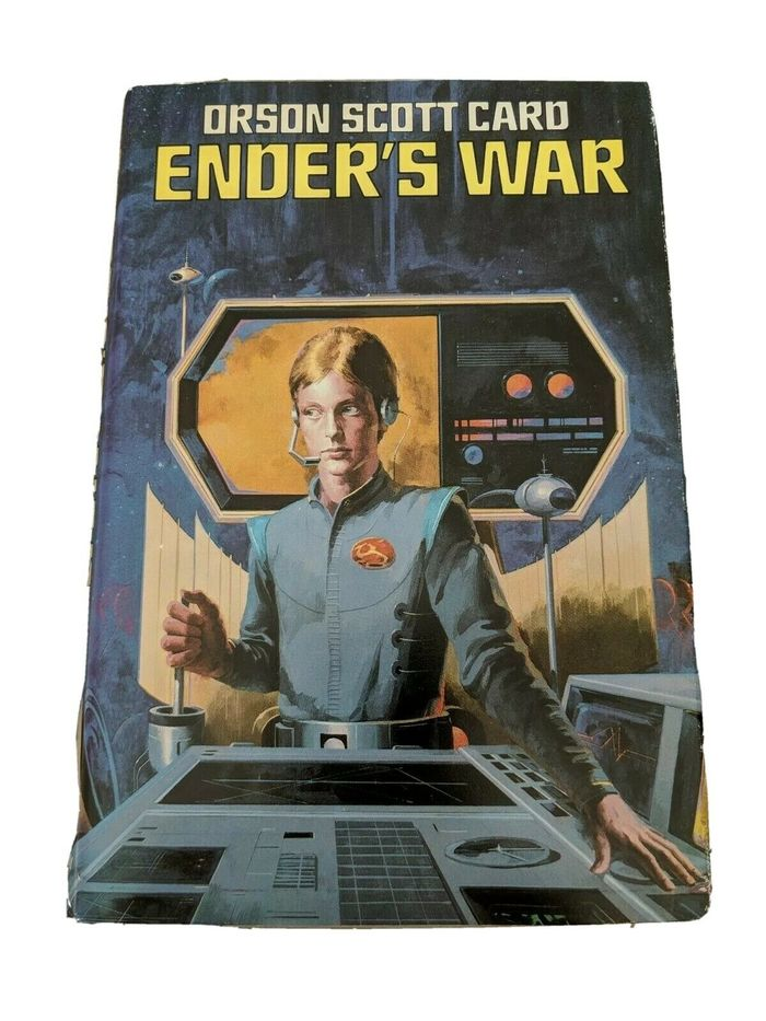 This 1986 Book Club Edition of Ender's War from Nelson Doubleday includes the stories Ender's Game and Speaker for the Dead. Jacket painting by Vincent Di Fate.