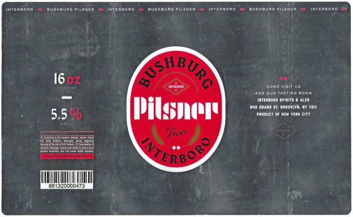 Bushburg Pilsner by Interboro Spirits & Ales 1