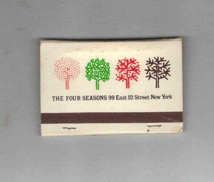 The Four Seasons restaurant identity 3