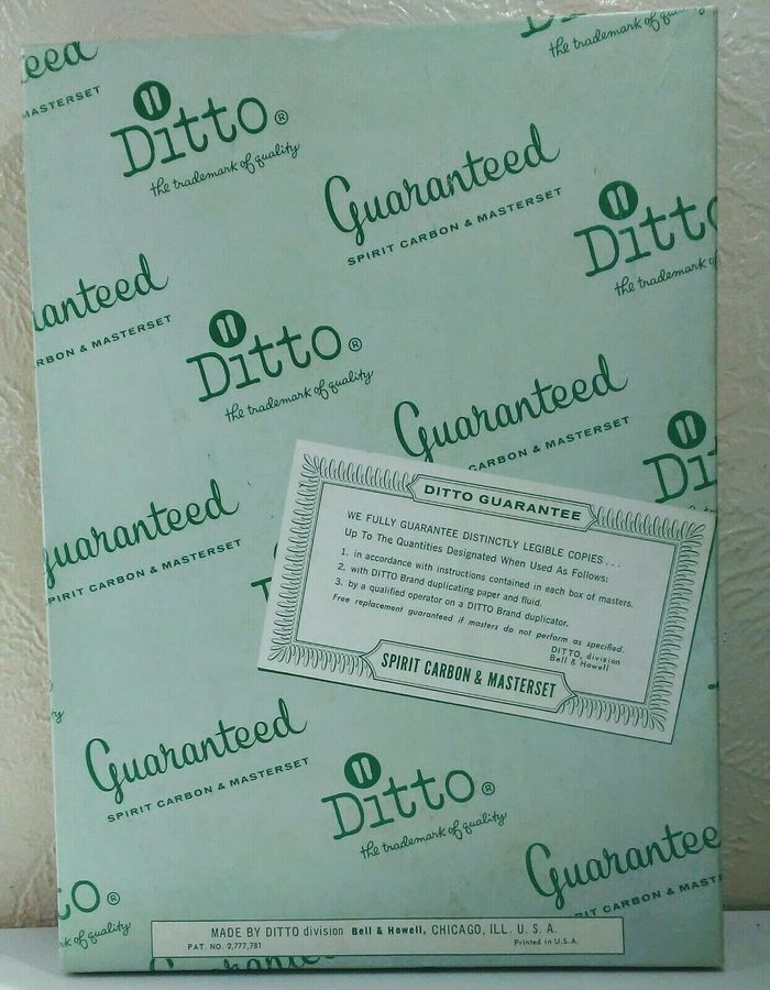 Ditto masterset packaging, undated.