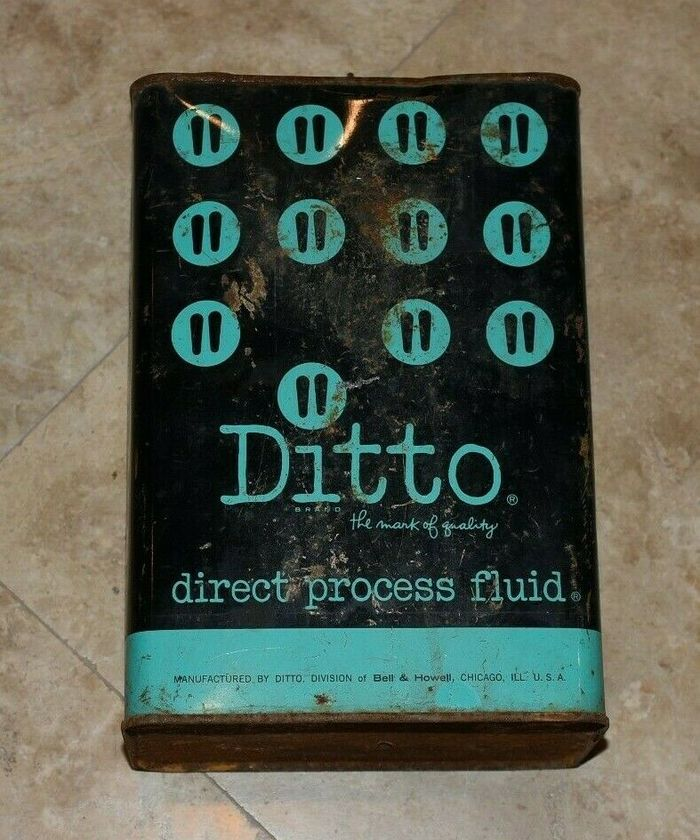 Ditto direct process fluid tin, undated.