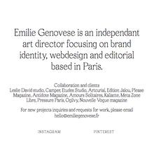 Emilie Génovèse portfolio website