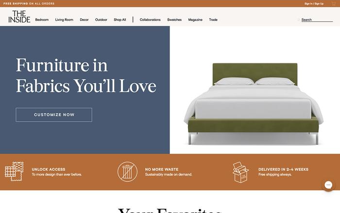 The Inside furniture website 1