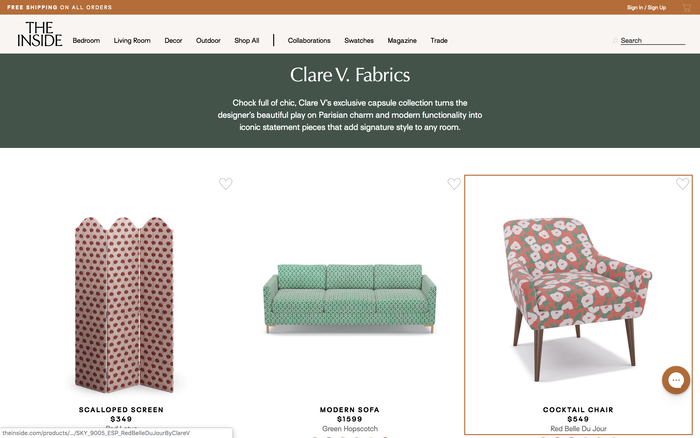 The Inside furniture website 5