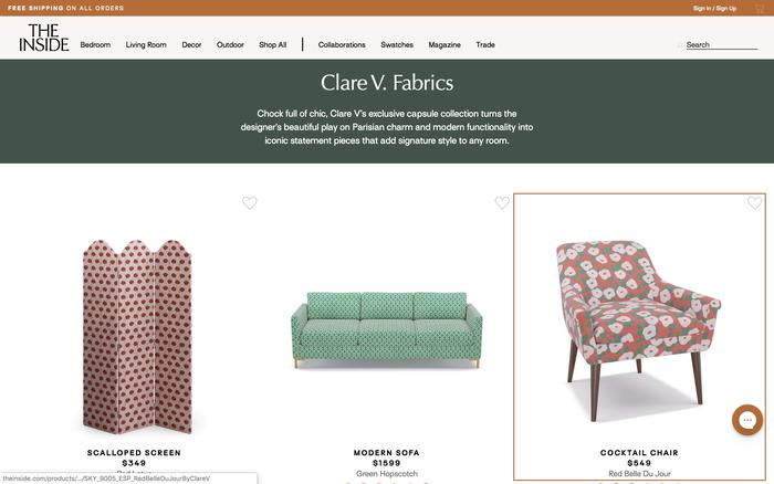 The Inside furniture website 5